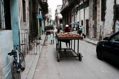 Potatoes in Old Havana Stock Photography