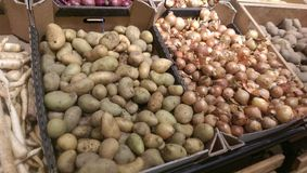 Potatoes and onion Royalty Free Stock Images