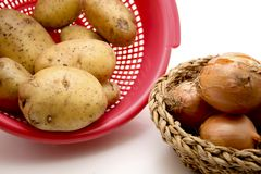 Potatoes with onions Royalty Free Stock Photography