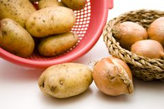Potatoes with onions Stock Photos