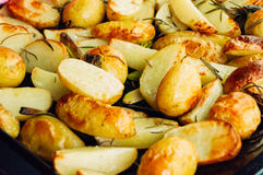 Potatoes out of the oven Royalty Free Stock Photography