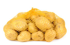Potatoes in a pack isolated on white background Royalty Free Stock Image