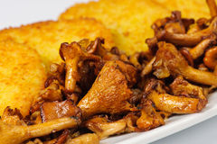 Potatoes pancake with mushrooms Royalty Free Stock Images