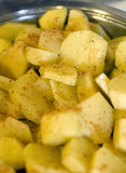 Potatoes and paprika Stock Photos