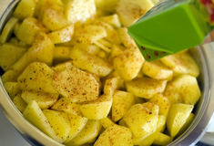 Potatoes and paprika Stock Image