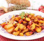 Potatoes with paprika. Some fresh potatoes with paprika royalty free stock photo