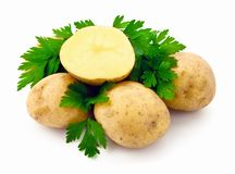 Potatoes With Parsley Stock Photo