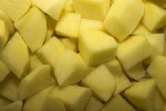 Potatoes peeled chopped Royalty Free Stock Photos