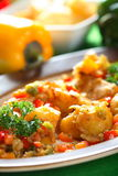 Potatoes in the pepper dressing Royalty Free Stock Photo