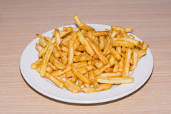 Potatoes. Plate of fries ready to eat stock photos