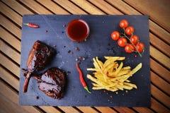 Potatoes and pork Royalty Free Stock Photo