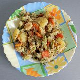 Potatoes and quinoa meal Royalty Free Stock Image