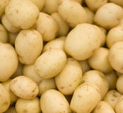 Potatoes raw. Vegetables food pattern in market Royalty Free Stock Image