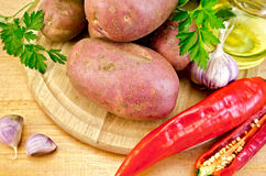 Potatoes red with vegetables Royalty Free Stock Photography