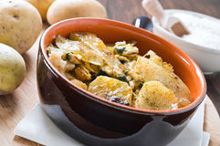 Potatoes, rice and mussels. Stock Photos
