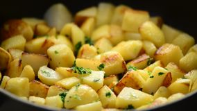 Potatoes roasted stock video
