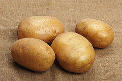 Potatoes on a sacking Royalty Free Stock Photo