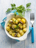 Potatoes salad with anchovies Royalty Free Stock Photo