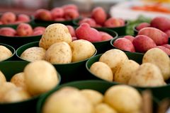 Potatoes for sale stock photo