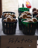 Potatoes For Sale In Baskets Stock Photography