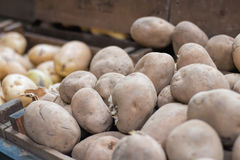 Potatoes For Sale At Market Stall Stock Images