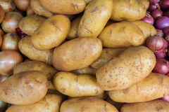 Potatoes for sale at market Stock Image