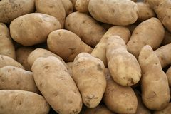 Potatoes for sale Stock Image