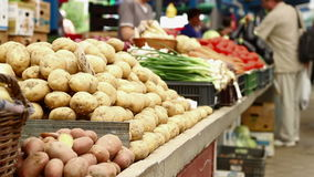 Potatoes for Sale stock video footage