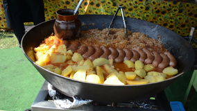 Potatoes sausage cabbage Royalty Free Stock Images