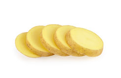 Potatoes slices Stock Images