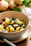 Potatoes with smoked meat Stock Photography