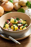 Potatoes with smoked meat Royalty Free Stock Photos