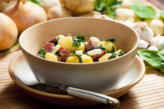 Potatoes with smoked meat Royalty Free Stock Photography