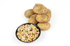 Potatoes and Soup Pulses Royalty Free Stock Photos