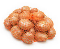 Potatoes in string-bag Royalty Free Stock Photo