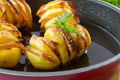 Potatoes stuffed with bacon Royalty Free Stock Photography