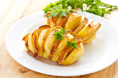 Potatoes stuffed with bacon Royalty Free Stock Images