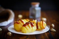 Potatoes stuffed with bacon Stock Photos