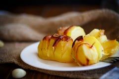 Potatoes stuffed with bacon Stock Photography
