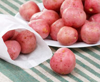 Potatoes on the table Stock Photography