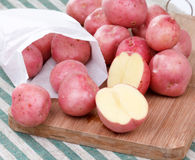 Potatoes on the table Royalty Free Stock Photography