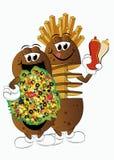 Potatoes. Three king of potatoes theme illustration stock illustration