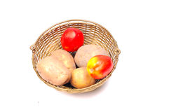 Potatoes and tomatoes Stock Photography