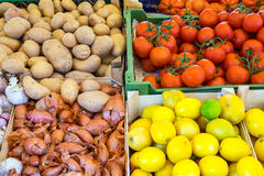 Potatoes, tomatoes and more Stock Image