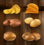 Potatoes vector icons Stock Photos