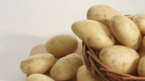 Potatoes, vegetables backgrounds stock video