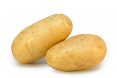 Potatoes on white Royalty Free Stock Photo