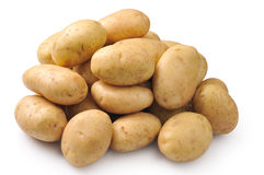 Potatoes on a white Stock Photos