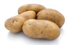 Potatoes on white Royalty Free Stock Photo