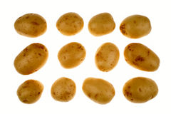 Potatoes on white Royalty Free Stock Image